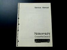 Nakamichi Cassette Deck 2 Service Manual
