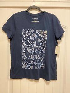 Lucky Brand Womens short sleeve blue t-shirt size L