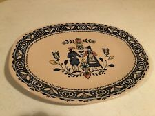 "Johnson Brothers ""Old Granite"" Hearts and Flowers 12"" Serving Platter"