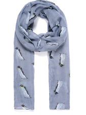 Grau Cute Penguin animal Print Schal Schals Überwurf Strand Wrap Geschenk