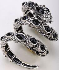 Stretch snake bangle bracelet armlet upper arm cuff jewelry gift A32 BLACK charm