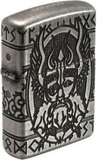 """ZIPPO LIMITED """"ODIN"""" SILVER ANTIQUE 8 SIDES DEEP ENGRAVED LIGHTER * NEW in BOX *"""