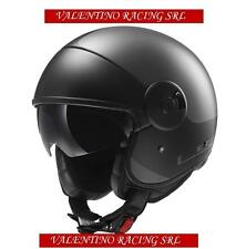 CASCO JET LS2 OF597 CABRIO VIA MATT TITANIUM BLACK IN FIBRA MIS. S 55/56 Cm