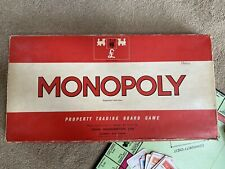 Monopoly Board Game By Waddingtons 100% Complete Vintage