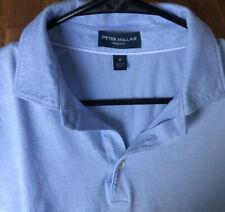 Peter Millar Collection Men's Sz Medium 100% Linen Light Blue Polo Shirt