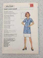 Silver Needles Lady's Coat Overall Pattern Vintage