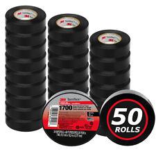 50 Rolls 3m Temflex 1700 Vinyl Black Electrical Tape 34 X 60 Ft 50 Pack
