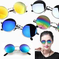 Vintage Round Sunglasses Men Women's Vintage Retro Mirrored Glasses Eyewear Hot