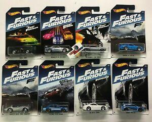 8 Car Set * 2016 Hot Wheels Fast & Furious w/ Supra * WJ24