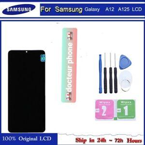 ECRAN LCD SUR CHASSIS complet GALAXY A12 NOIR A125 qualité🚨ips🚨outil+verre🎁