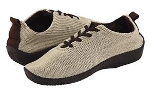 "Arcopedico LS Beige ""Shocks"" Lace-Up Shoe Flat Women's sizes 36-42/5-11 NEW!!!"