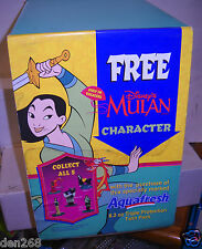 #6047 RARE Aquafresh Toothpaste Disney MULAN Advertising Box