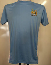 MANCHESTER CITY BLUE TRAINING SHIRT SIZE MEDIUM OFFICIAL MERCHANDISE BRAND NEW