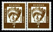 BUND bed. Deutsche (y)    7  Pf. **, Mi. 348 - im Paar, postfrisch Luxus