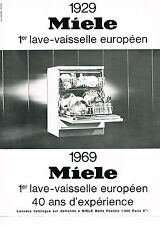 PUBLICITE  1968   MIELE  lave vaisselle