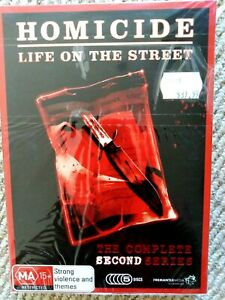 Homicide - Life On The Street : Series 2 DVD 5-Disc Set NEW Sealed Fast FREEpost