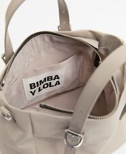 BIMBA Y LOLA SAND TOTE BAG SANDSTONE Handle and removable fabric shoulder strap