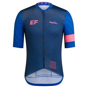 NEW Rapha Men's Cycling Jersey S EF Pro Team Training Blue Pink TDF RCC Race