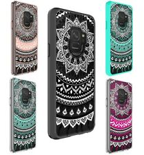 Galaxy S9 S8 Plus S7 edge Case Mandala Pattern Bumper Print Cover for Samsung
