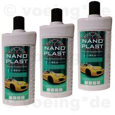 (13,30€/l) 3x NANO-PLAST Autopolitur Kfz-Politur garantiert Langzeitschutz 500ml