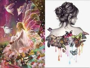 Decor 5D Butterfly Fairy Girl DIY Diamond Painting Embroidery Cross Stitch #E18
