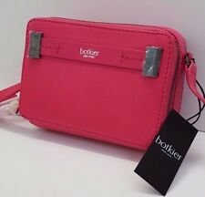 Botkier Crossbody Leather Zip Around Leroy (Pink Rose)