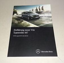 Werkstatthandbuch Einführung Mercedes Vito Typ 447 Kasten Mixto Tourer 05/2014