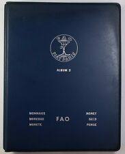 1971-1973 Complete BLUE FAO World 34-Coin Album W/ Silver/Proof Coins As Issued