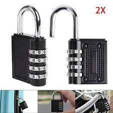 2Pcs Combination Padlock 4-Digit Combination Lock, for Sheds, Gym, Toolbox