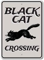 Black Cat Crossing Sign, Black Cat Decor, Black Cat Sign ENSA1002984