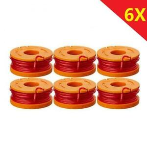 6 Pack Spool Line Grass Trimmer/Edger Replacement 10ft For WORX WA0010 Trimmer