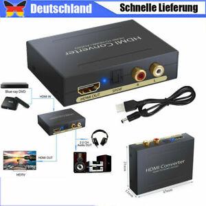 1080P Audio Extractor Converter Splitter HDMI To HDMI & Optical SPDIF + RCA R/L