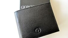 Authentic Giorgio Armani Bi-fold leather Wallet...GA602...cervo black...Italy