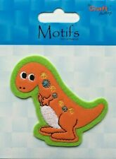 VAT Sewing Iron Sew on Motif Craft Factory Patch Dinosaur Dino 7 X 6cm