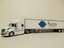 DCP 1/64 SCALE INTERNATIONAL PROSTAR (WAL-MART) WITH REEFER TRAILER (SAM'S CLUB)
