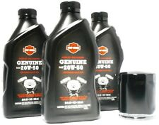 Harley Davidson Genuine 20W50 Oil Change Kit Black Filter Sportster Dyna Softail