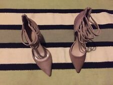 Designer BIANCA BUCCHERI , furry Beige Heel Shoes, Size 4(37).Superb Condition