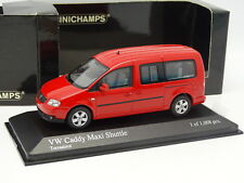 Minichamps 1/43 - VW Caddy Maxi Shuttle Rouge
