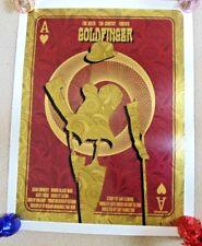 Goldfinger Limited 2012 firmado poster de cine de 007 David o'daniel Alien Corsé