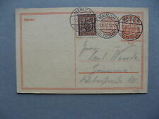 GERMANY INFLATION, uprated revalued prestamped PC (card) 02-08-1922, total 1,50