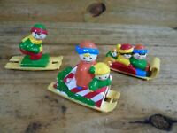 Vintage 3 Pieces Sleds For Santa's Ski Slope by Mr. Christmas 1992