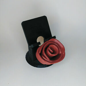 Mobile phone stand - rose decorated – multiple colours available