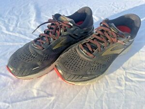 Brooks Adrenaline GTS 18 Running Shoes Black/Gold/Red Men's Size 11.5
