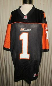 Reebok CFL #1 PRINTERS B.C.LIONS XL Jersey / Used but in good condition