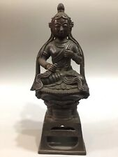 Chinese Antique Old copper hand-built Tibetan Buddha statue