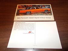 1969 Plymouth Valiant Signet 4-Door Sedan Advertising Postcard