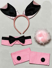 Black & Pink Bunny Girl Set Kit Play Boy Fancy Dress Costume Vicars & Tarts