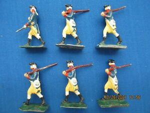 """S.A.E 30 MM LEAD FIGURES """"PENNSYLVANIA REGIMENT 1776"""" MARCHING FROM #1/3M SET"""