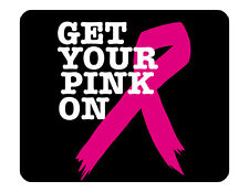 "9""x7"" MOUSE PAD - Breast Cancer Awareness 10 Find Cure Pink Women Tatas Survivor"