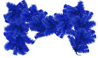 6FT Blue Christmas Brush Garland Shiny Blue Tinsel Branches Outdoor Home Decor